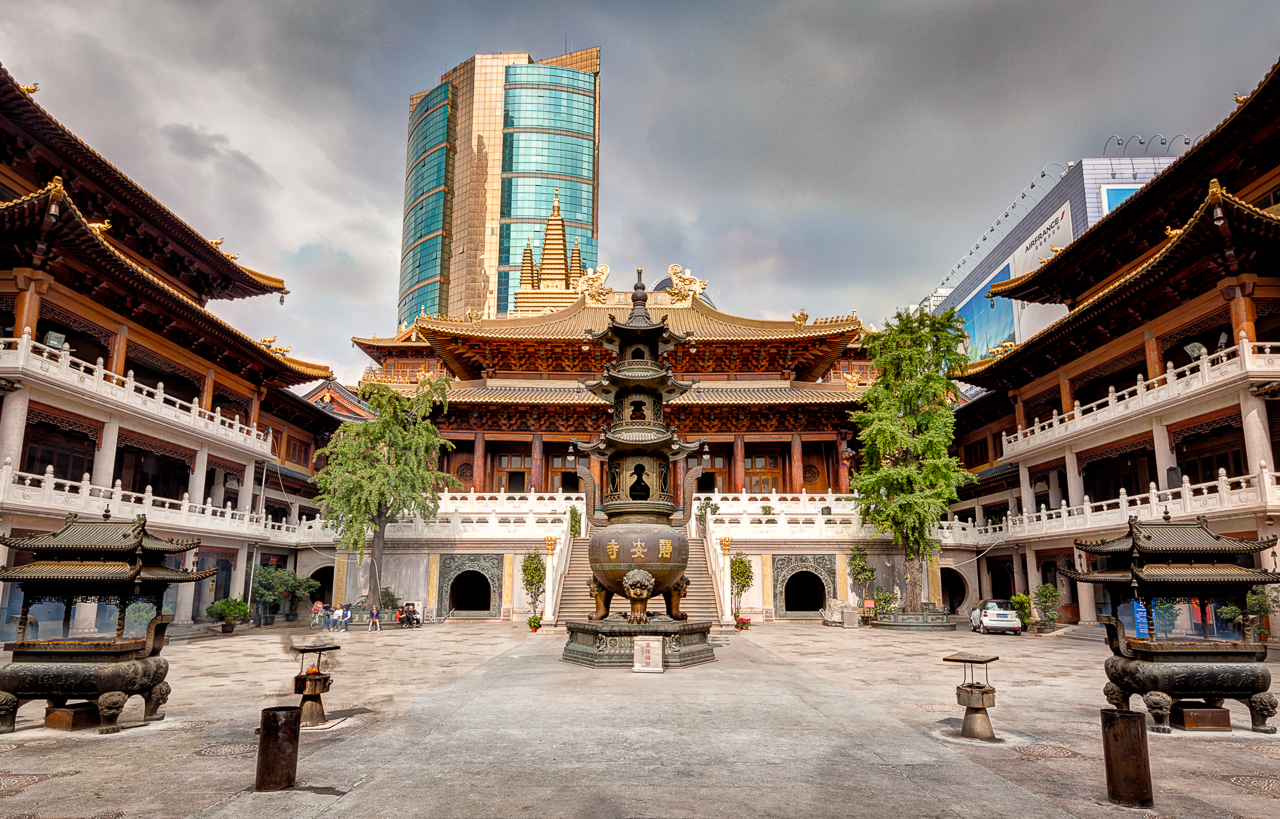 Resultado de imagem para Templo de Jin'an shanghai